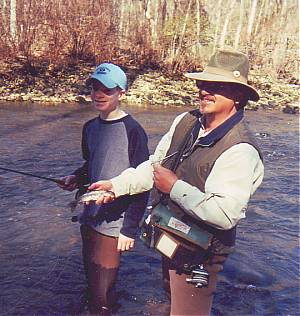 Someone's first trout!