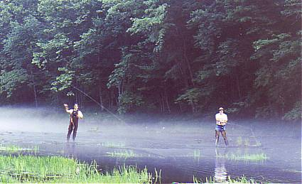 A summer afternoon mist over the Skinny Water